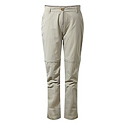 Craghoppers - Beige nosilife zip off trousers - long length