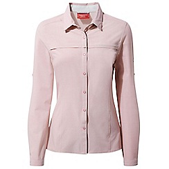 Craghoppers - Pink nosilife pro long sleeved shirt