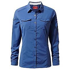 Craghoppers - Blue nosilife adventure long sleeved shirt
