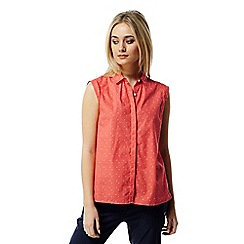 Craghoppers - Bright papaya Esta sleeveless shirt