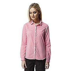 Craghoppers - Watermelon combo Nosilife shona long sleeved shirt