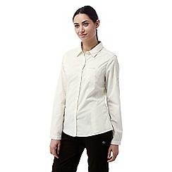 Craghoppers - Sea salt Kiwi long sleeved shirt