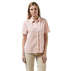 Craghoppers - Pink silla short sleeved shirt