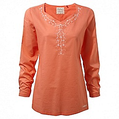 Craghoppers - Bright papaya Rayna long sleeved tunic top