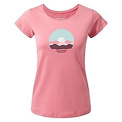 Craghoppers - Pink violet short sleeved t-shirt