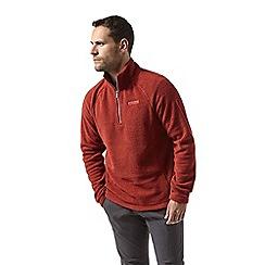 Craghoppers - Red 'Barston' half zip fleece