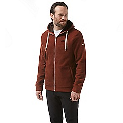 Craghoppers - Red sander hooded fleece jacket