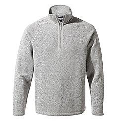 Craghoppers - Grey marl quarry 'Noel' half zip fleece