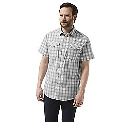 Craghoppers - Grey crooble Short sleeved check shirt