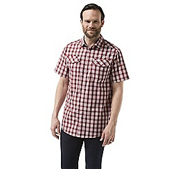 Craghoppers - Red crooble Short sleeved check shirt