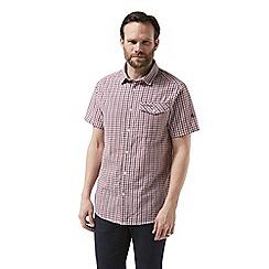 Craghoppers - Red garah Short sleeved shirt