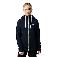 Craghoppers - Night blue Lindell knit look hooded jacket