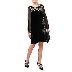 Jacques Vert - Floral Burnout Velvet Dress
