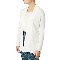 Eastex - White edge to edge rib detail jacket
