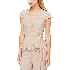 Jacques Vert - Morena lace belted blouse