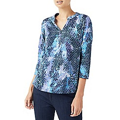 Dash - Tangled vine print jersey top