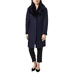Precis - Petite faux fur collar coat