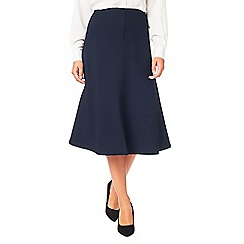 54488_046391310: Textured crepe flared skirt