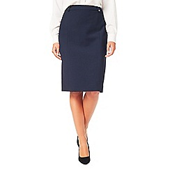Eastex - Textured crepe pencil skirt
