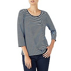 Dash - Simple stripe chambray top