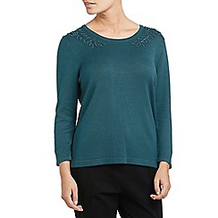 Eastex - Embellished neck jumper