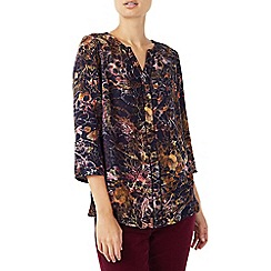 Dash - Dotty floral texture blouse
