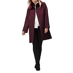 Jacques Vert - Molly check faux fur trim coat