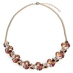 Jacques Vert - Mixed colour crystal necklace