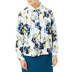 Eastex - Painted landscape print blouse