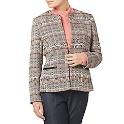 Eastex - Contrast tipped tweed jacket