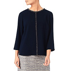 Eastex - Embellished satin blouse