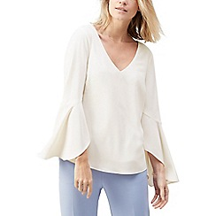 Jacques Vert - Lacy fluted sleeve blouse