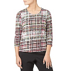 Eastex - Highland check jersey top