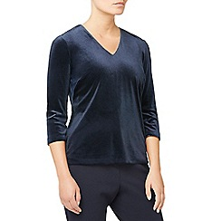 Eastex - Velvet v neck top