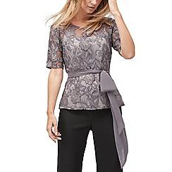 Jacques Vert - Thea lace & lurex cami blouse