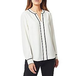 Precis - Petite mono tipped blouse