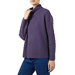 Dash - Diagonal stripe texture knit jumper