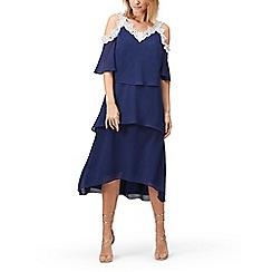 Jacques Vert - Lace trim cold shoulder dress