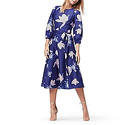 Jacques Vert - Flared print long sleeves dress