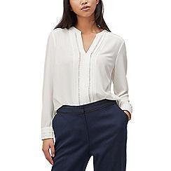 Precis - Petite trim and pintuck blouse