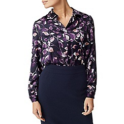 Eastex - Inky leaves print blouse