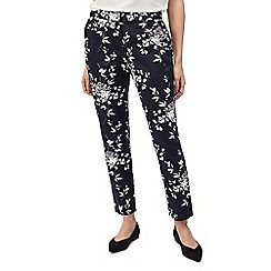 Precis - Petite shadow leaf trousers