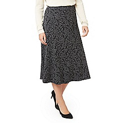 Eastex - Salt & pepper ponte skirt