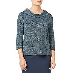 Eastex - Textured ponte cowl neck