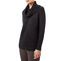 Dash - Black side zip cowl jumper
