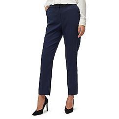Precis - Petite navy textured trouser
