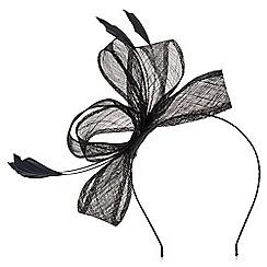 Precis - Black feather fascinator