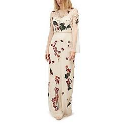 Jacques Vert - Beaded long sleeve maxi dress