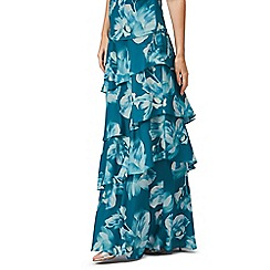 Jacques Vert - Printed tiered maxi skirt