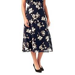 Eastex - Linear floral print skirt